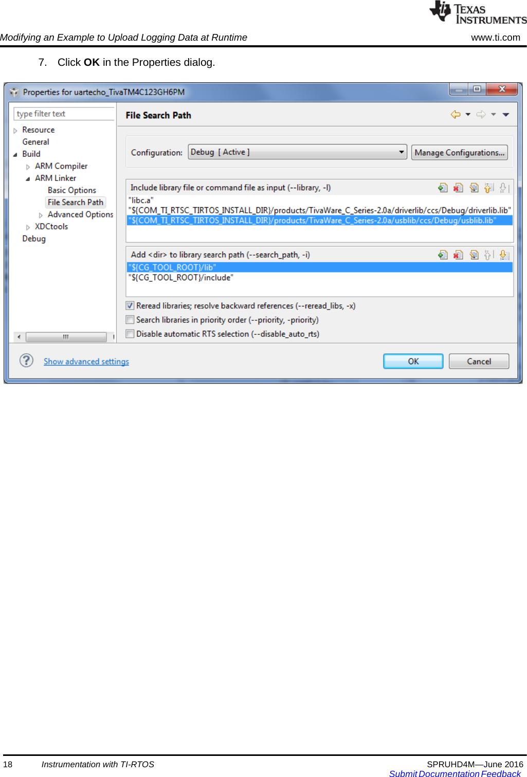 TI RTOS 2 20 User's Guide Spruhd4m Users