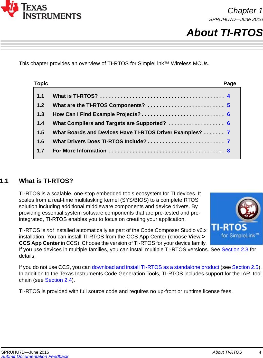 TI RTOS 2 20 For CC13xx/CC26xx SimpleLink Wireless MCUs