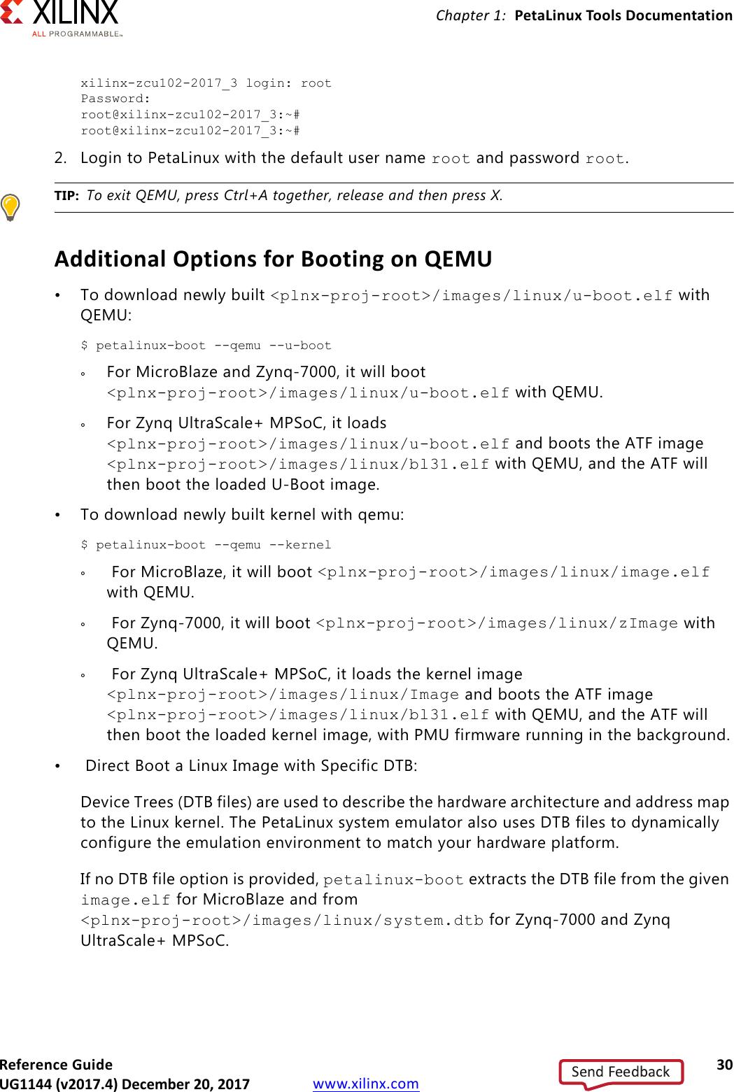PetaLinux Tools Ation: Reference Guide (UG1144) Ug1144