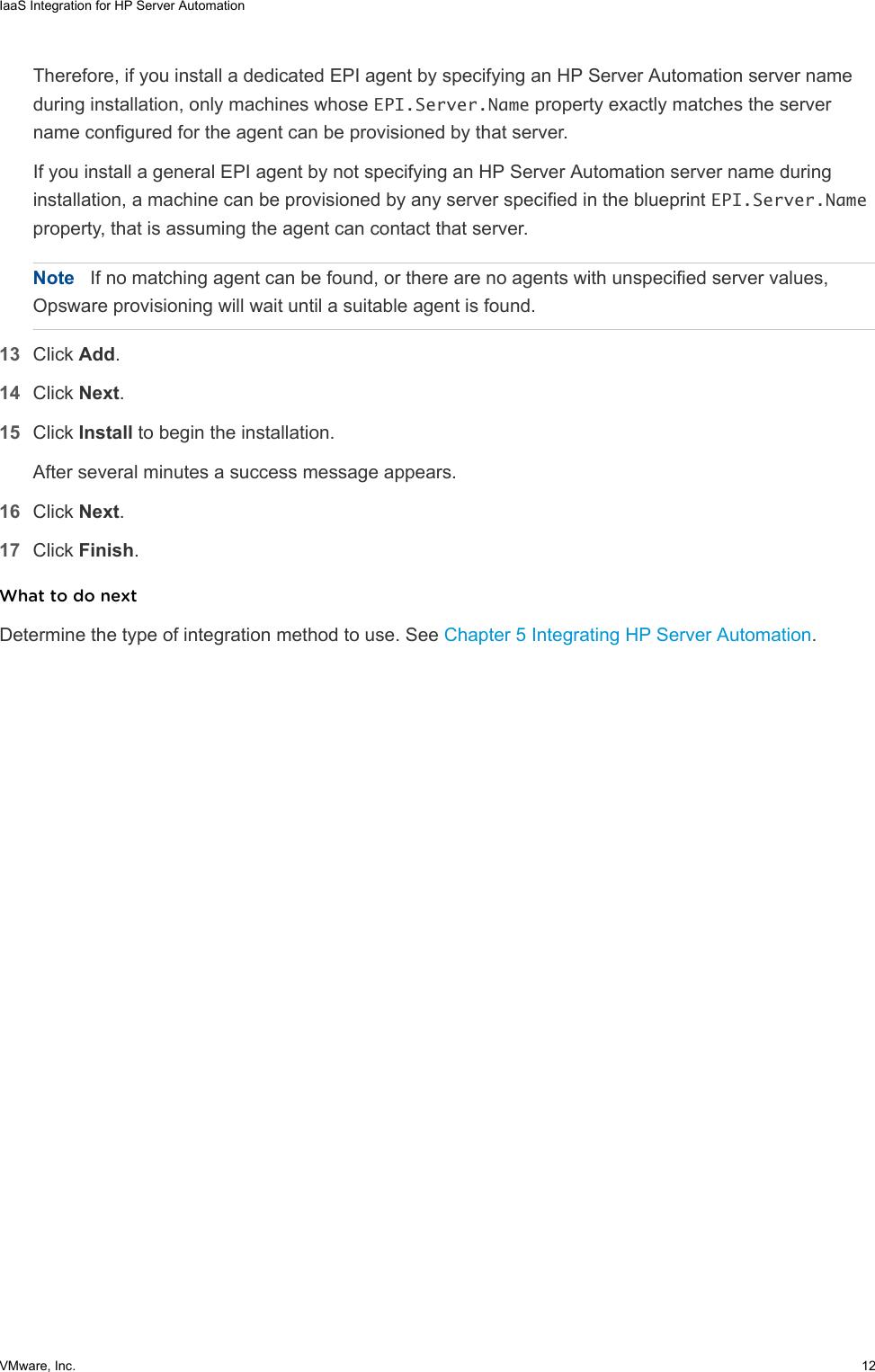 IaaS Integration For HP Server Automation VRealize  7 3 V