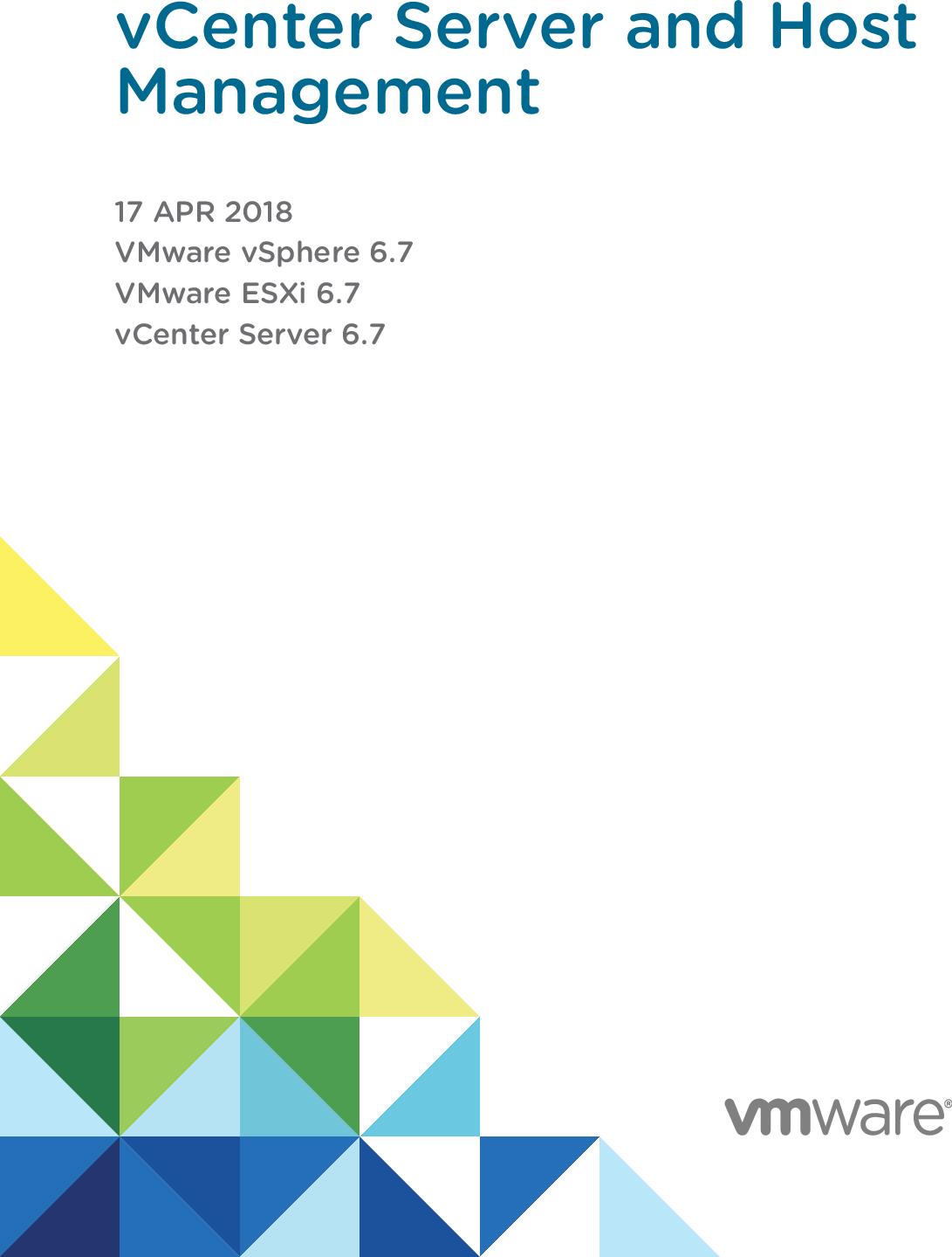 VCenter Server And Host Management VMware  VSphere 6 7 V