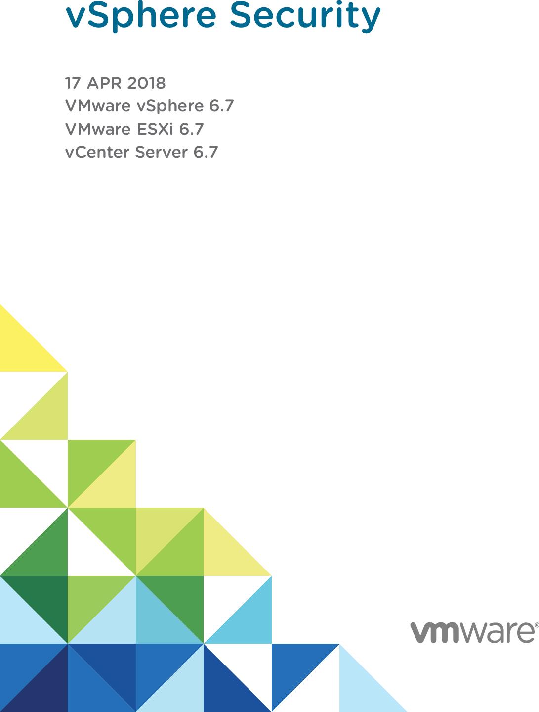 VSphere Security VMware  6 7 V Center Server esxi vcenter 67 EN