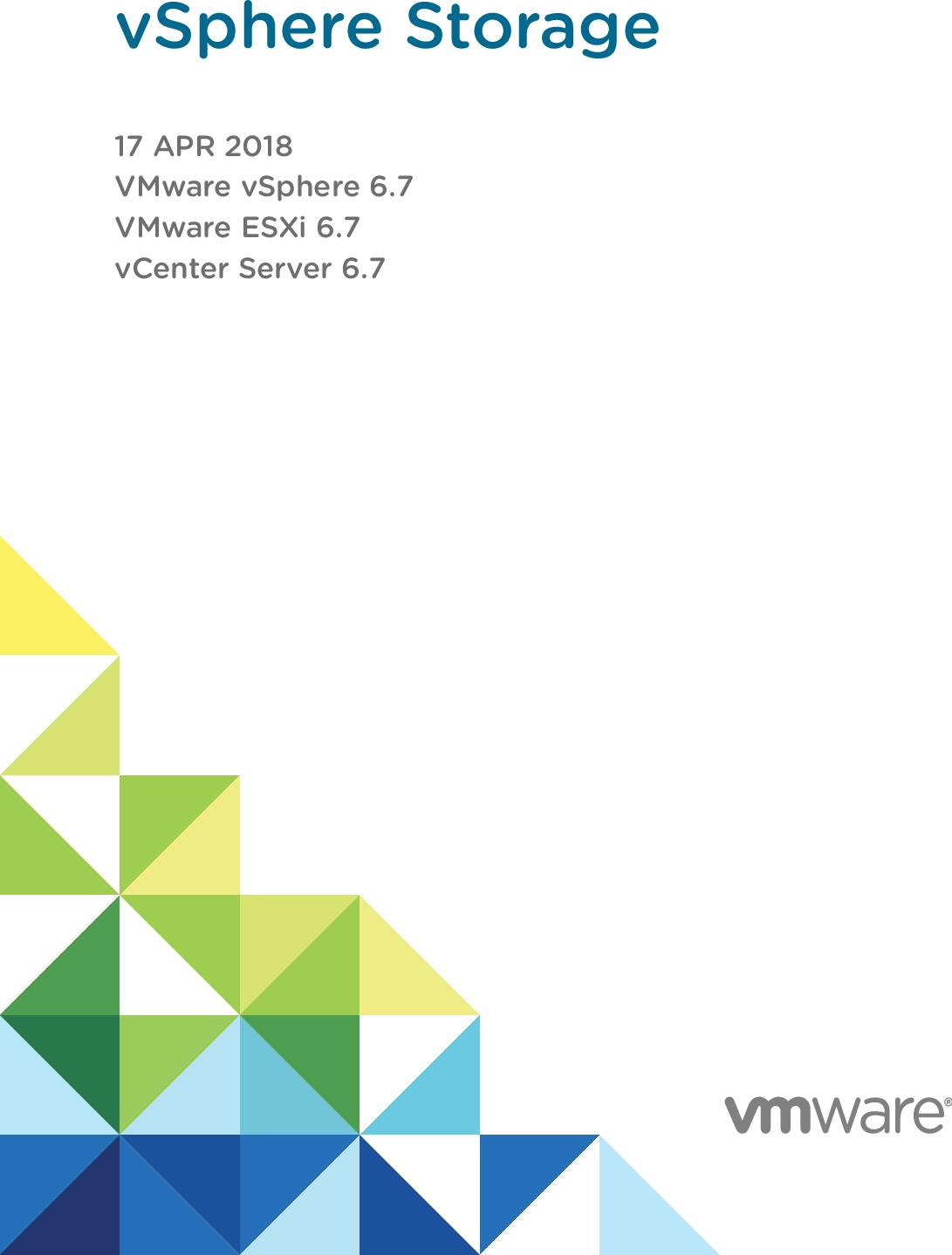 VSphere Storage VMware 6 7 V Center Server esxi vcenter 67 EN