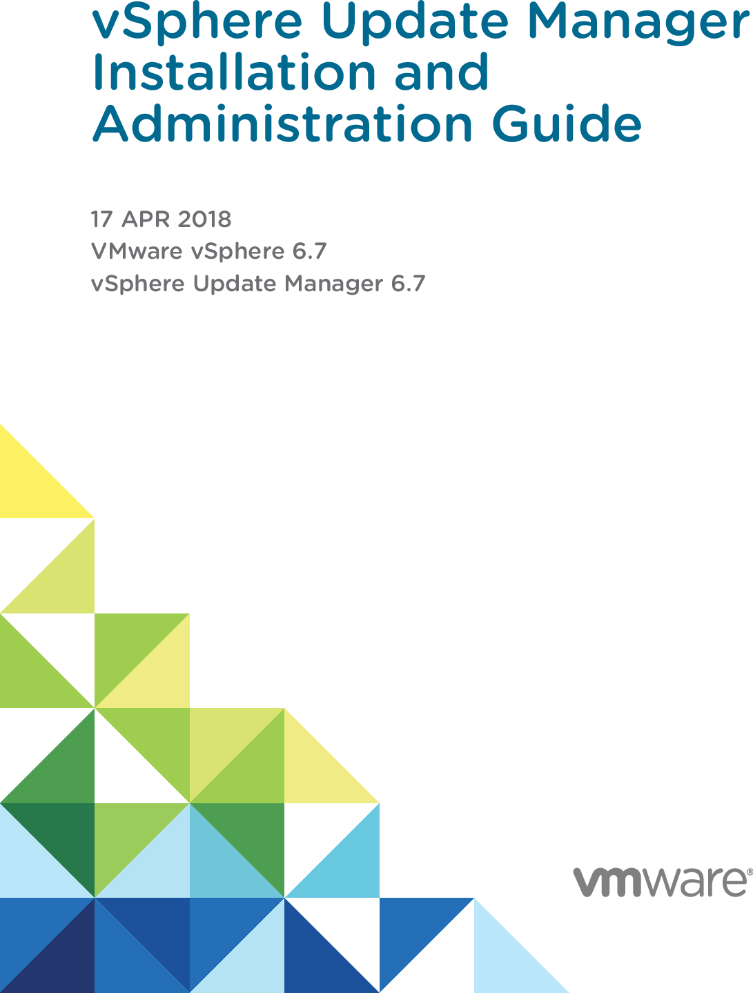 VSphere Update Manager Installation And Administration Guide