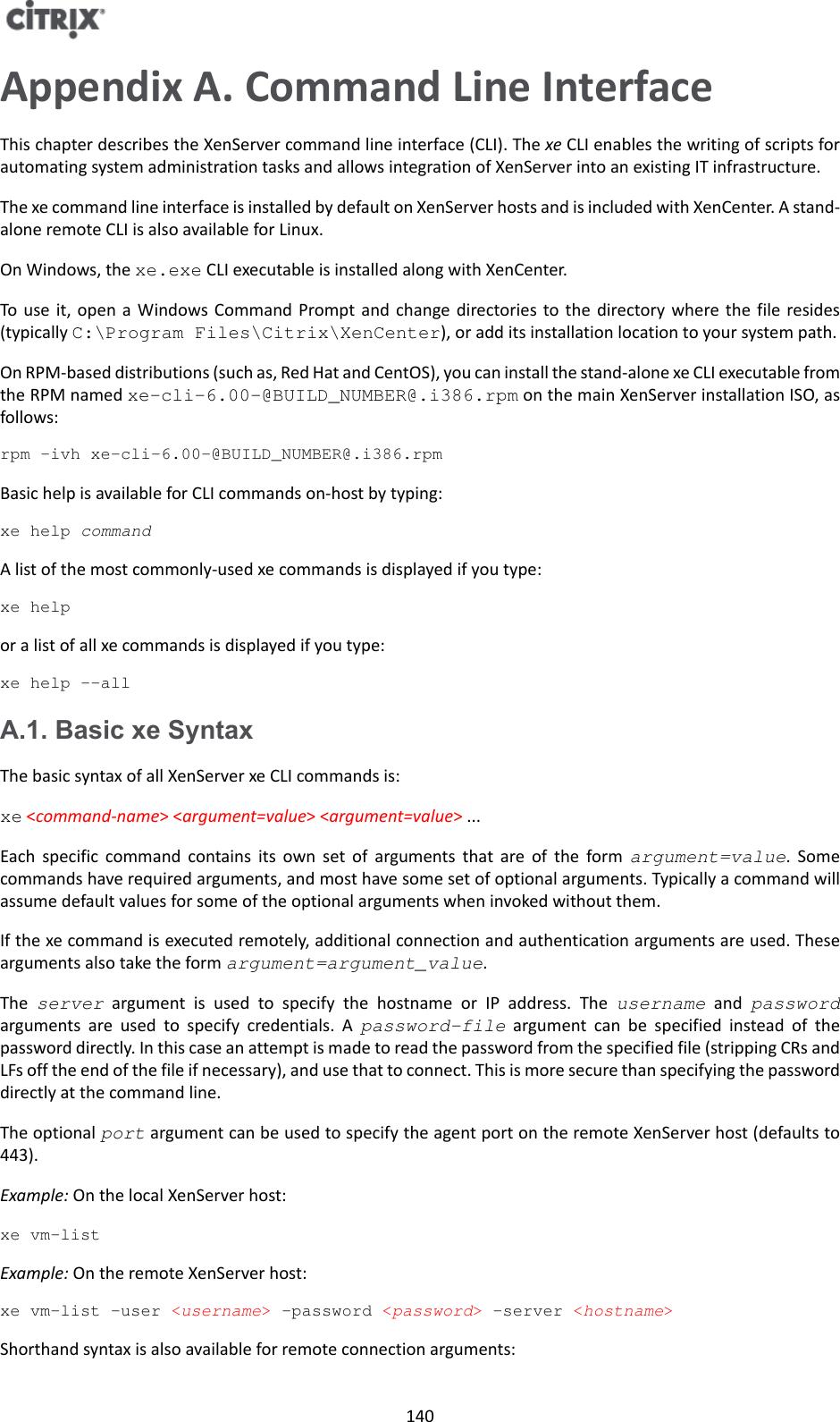 Citrix XenServer ® 7 0 Administrator's Guide 7 0 administrators