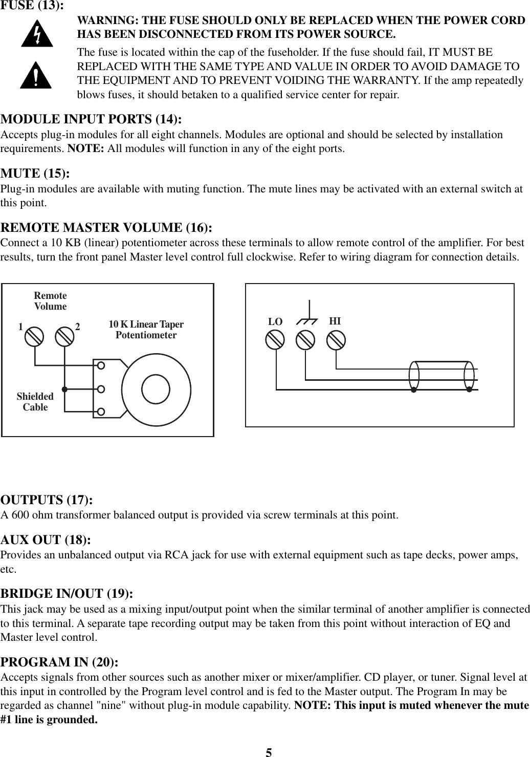 Peavey Mma 800t Users Manual Om Channel Master Wiring Diagram Page 5 Of 12