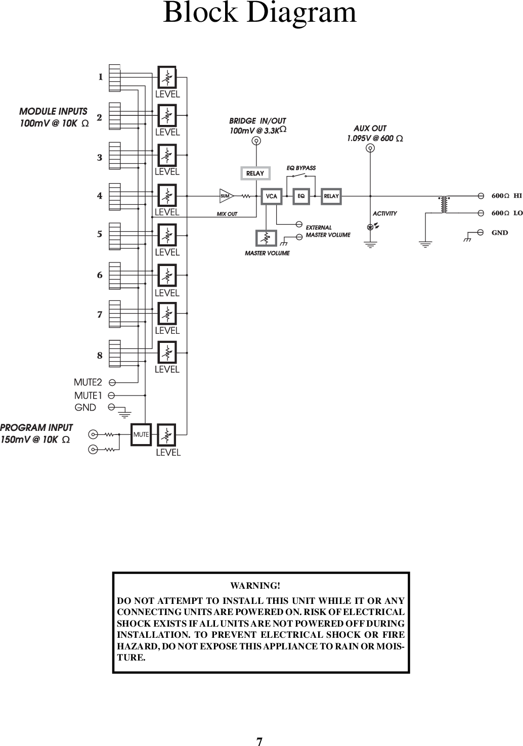 Peavey Mma 800t Users Manual Om T 40 B Wiring Diagram Page 8 Of 12
