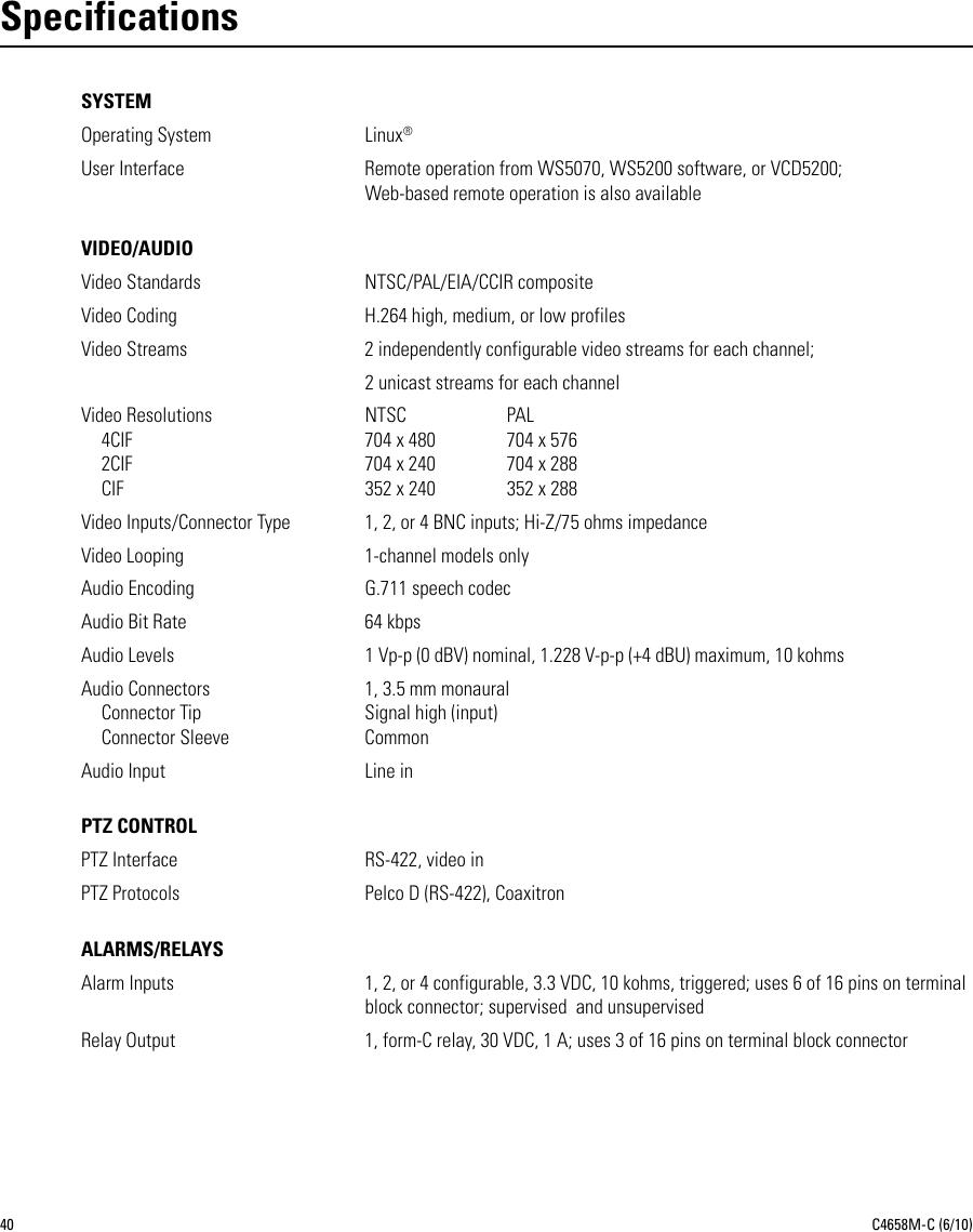 Pelco NET5400T