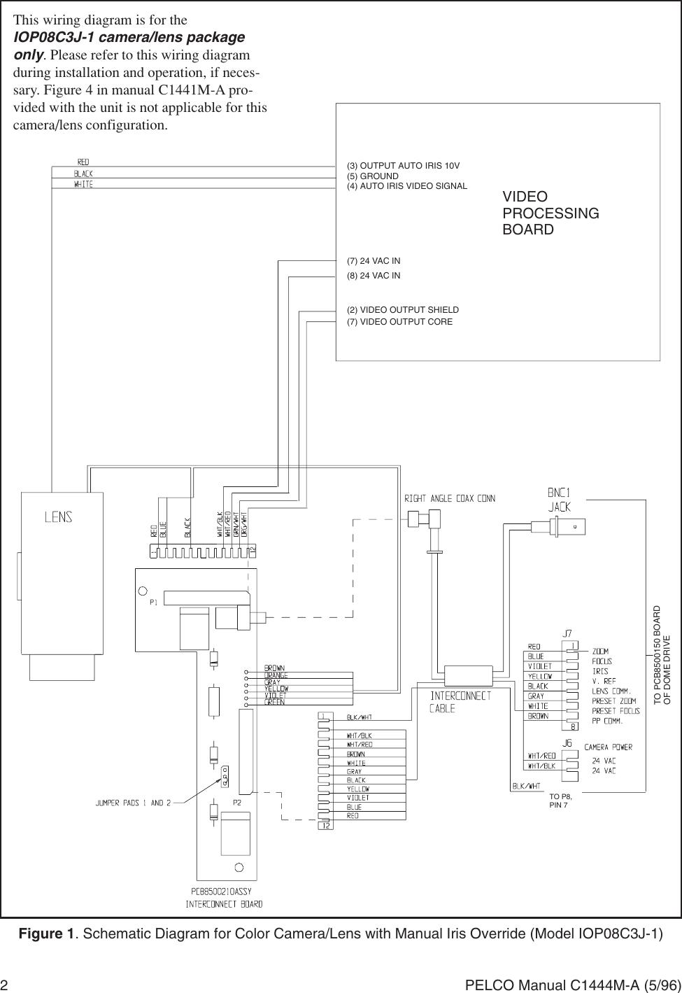 Page 2 of 2 - Pelco Pelco-Camera-Lens-Iop08C3J-1-Users-Manual- IOP08C3J-1 Camera_Lens Wiring Diagram For IDS08 Intercept Series Dome_manual  Pelco-camera-lens-iop08c3j-1-users-manual