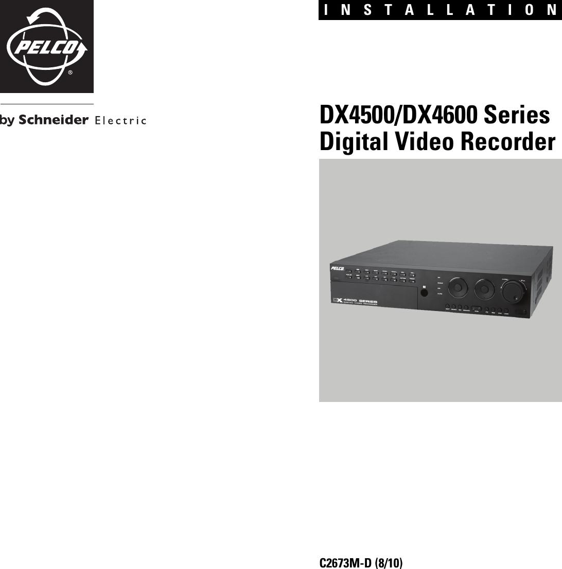 pelco dx4600 users manual dx4500 dx4600 series digital video recorder rh usermanual wiki