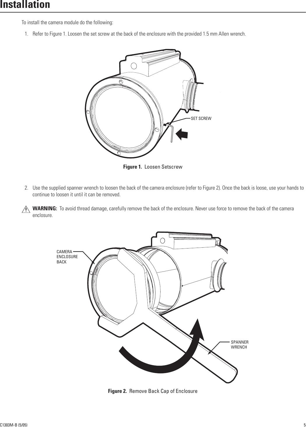 Pelco Explosionproof Camera Module C1303M B Users Manual Exsite ...
