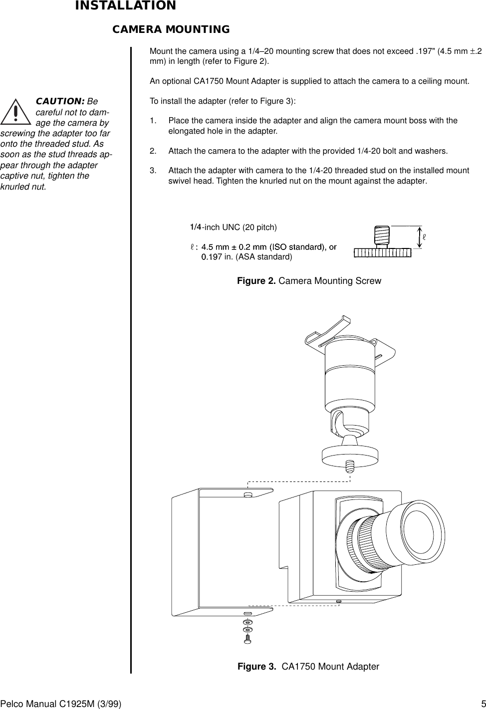 Pelco Ccd Color Camera Ccc4000 Users Manual Series Wiring Diagram Page 5 Of 12