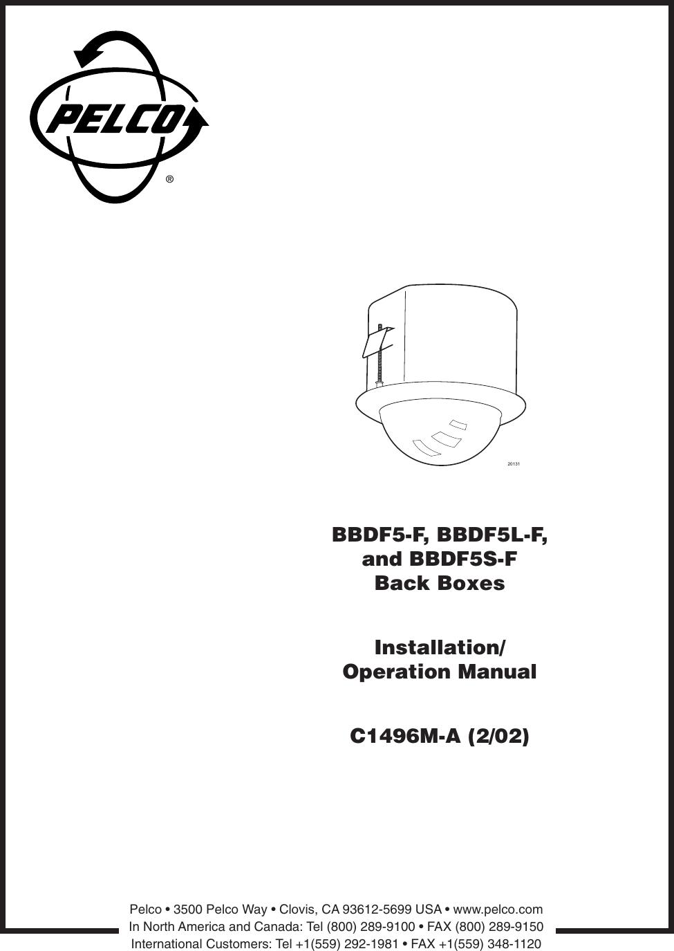 pelco security camera bbdf5l f users manual bbdf5 f_bbdf5l and bbdf5s dome  back boxes_manual