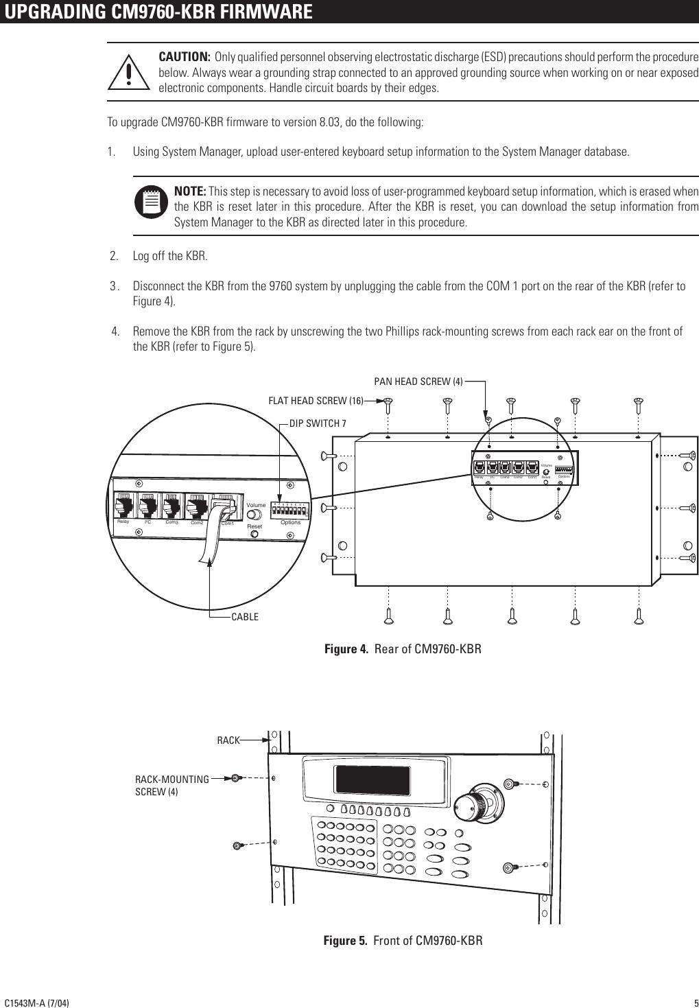 pelco cm9760 kbd user manual