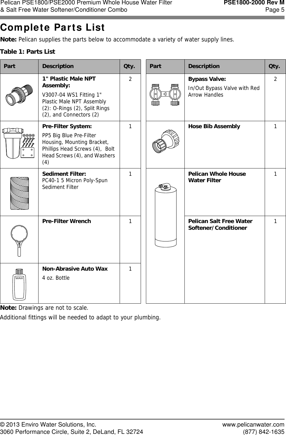 Pelican Water System Pse1800 Users Manual WaterFilter