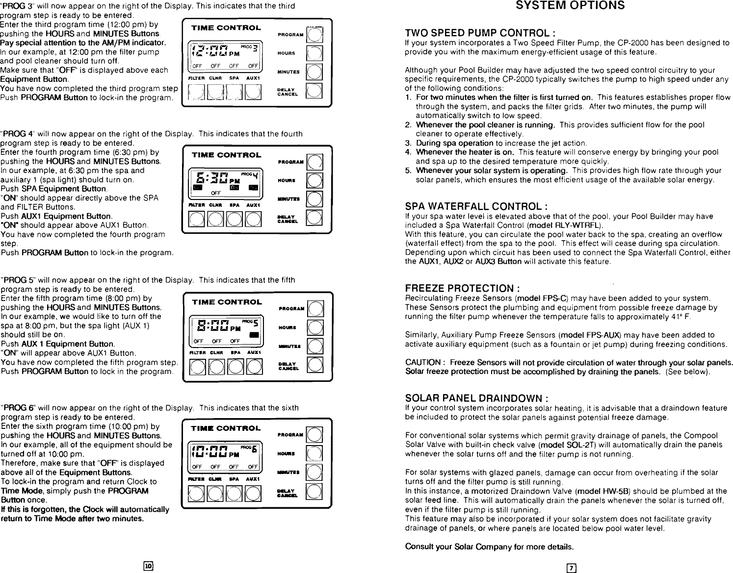 Pentair Pool Spa Control System Cp 2000 Users Manual Wiring Diagram Page 8 Of