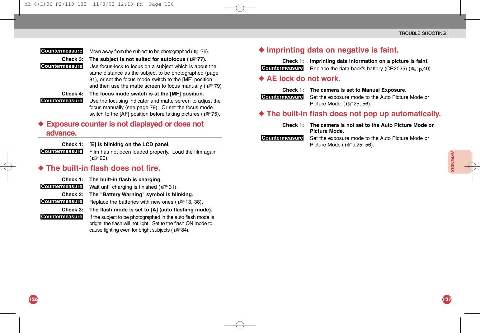 Pentax Mz 6 Users Manual