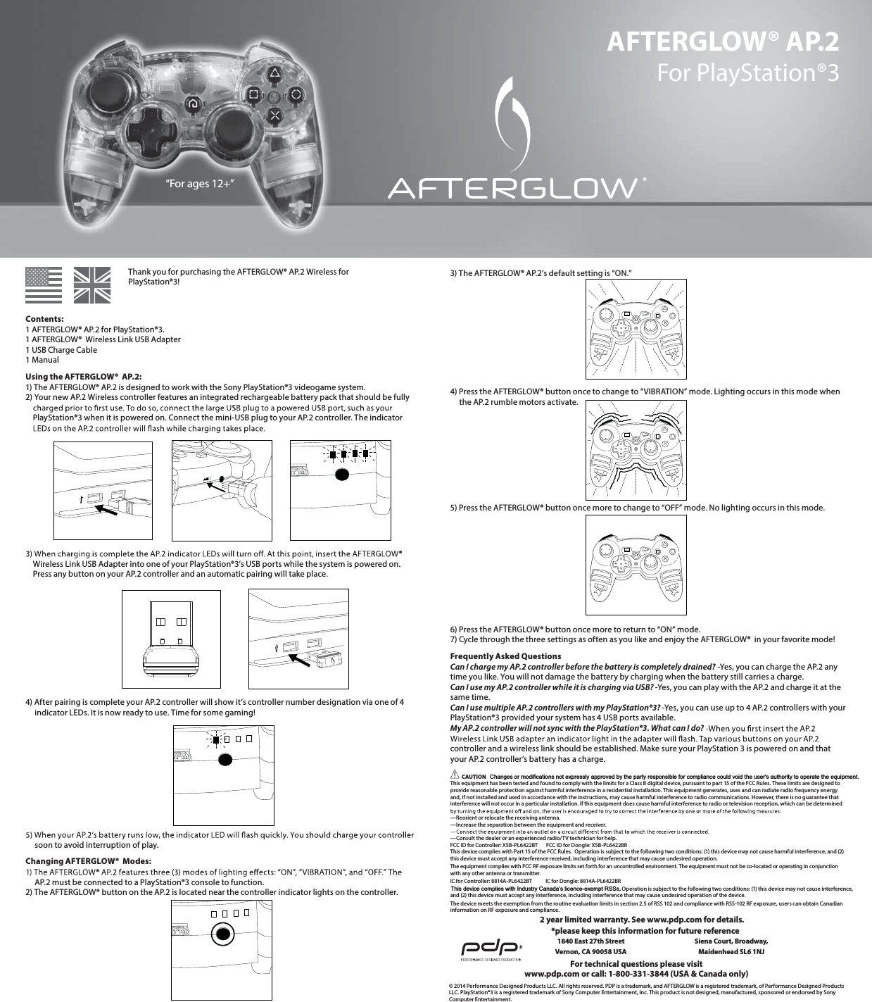 performance designed pl6422bt afterglow wireless controller for ps3 rh usermanual wiki ps3 wireless guitar dongle Power a PS3 Controller