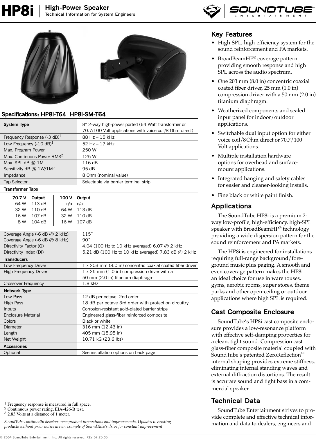 Phase Technology High Power Speaker Hp8I Users Manual 04