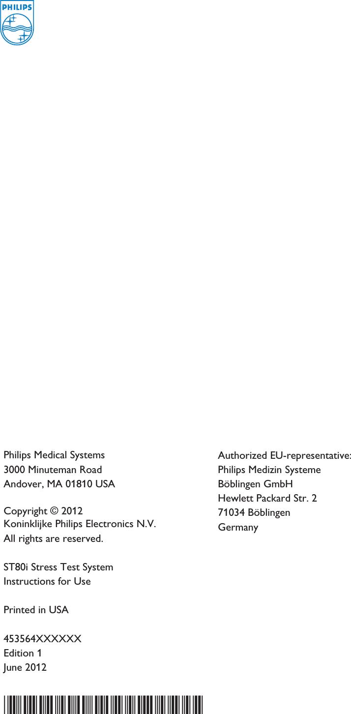 Philips Medical Systems North America ST80IAIM Advanced