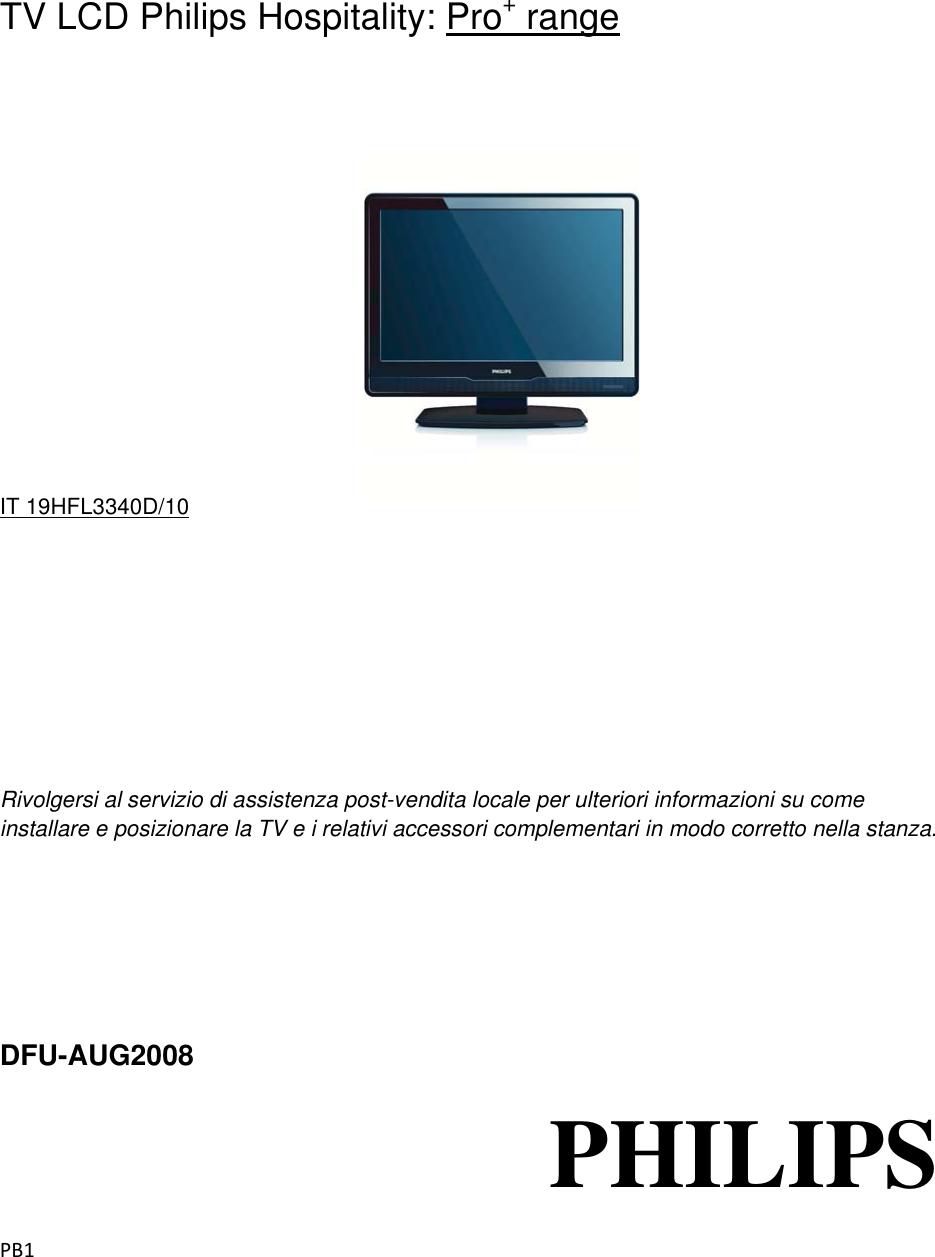 Assistenza Tv Philips.Philips Dfu 19hfl3340d Itgiusto מדריך למשתמש 19hfl3340d 10