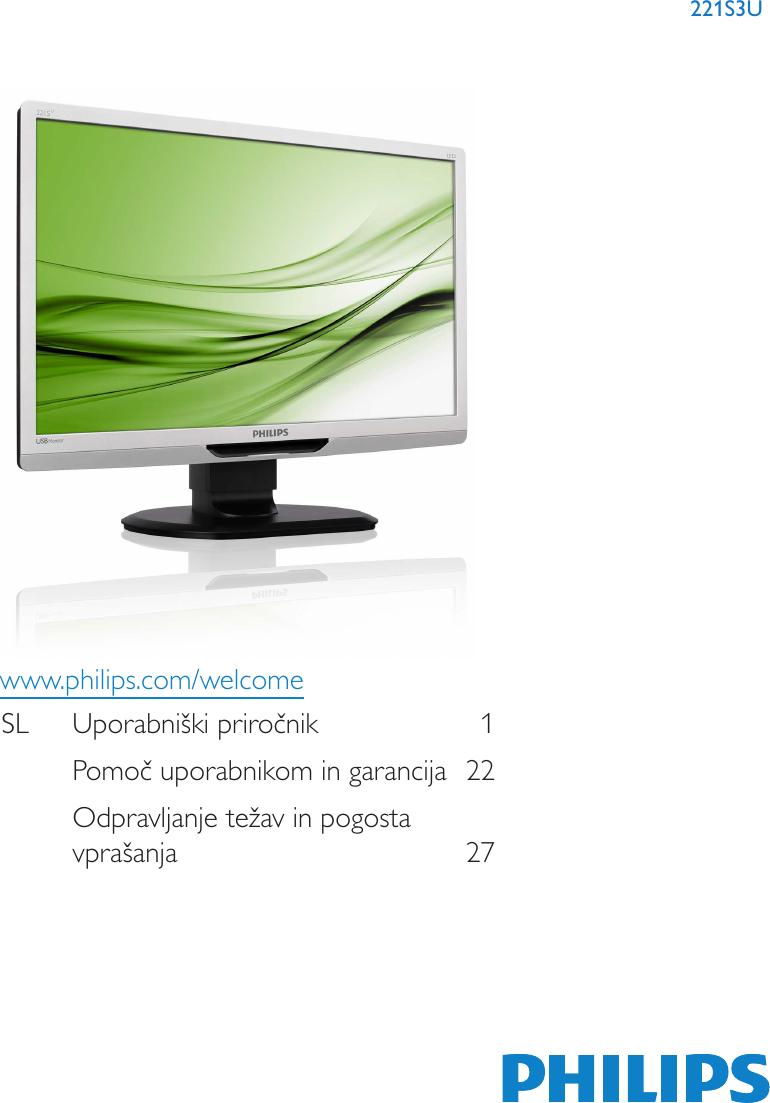 Philips Manual De Instrucciones 221s3ucb 00 Dfu Slv