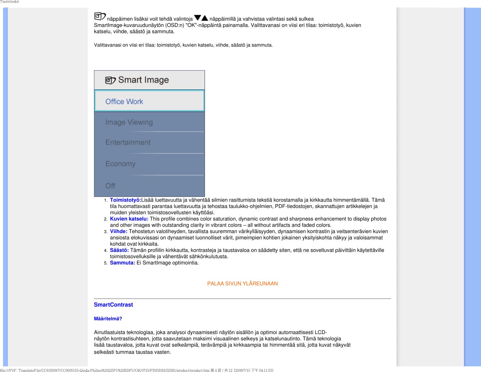 Philips 225B1CB/00 E Manual User Brukerveiledning 225b1cb 00