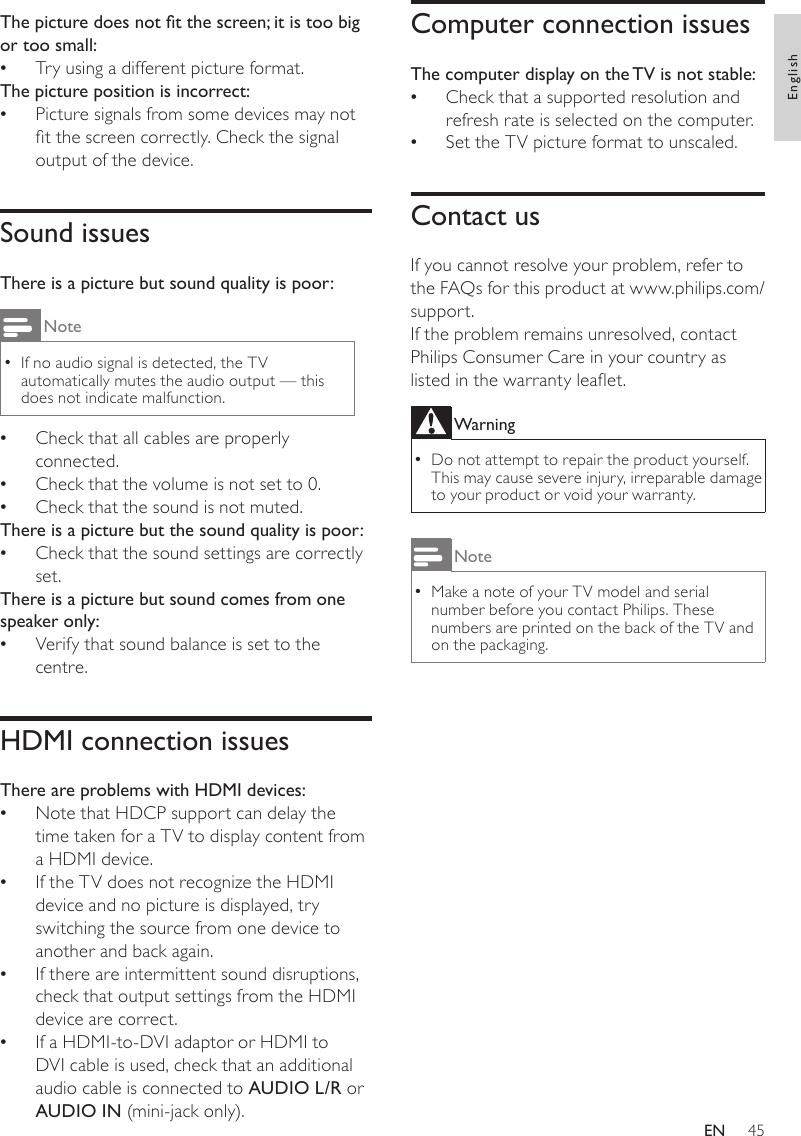 Philips 22HFL4372D/10 User Manual Upute Za Uporabu