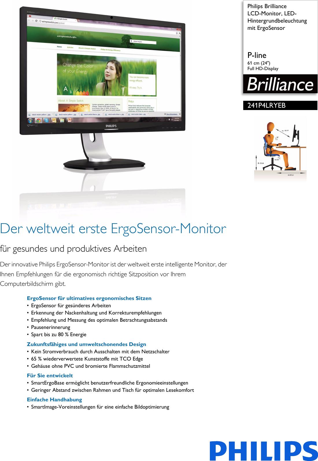 Philips 241P4LRYEB/00 Leaflet 241P4LRYEB_00 Released Germany (German ...