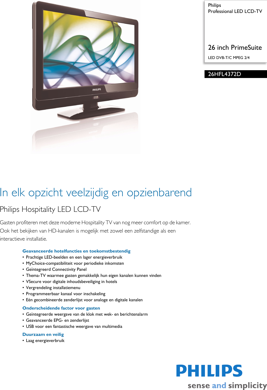 philips 26hfl4372d 10 professional led lcd tv user manual brochure rh usermanual wiki lcd tv user manual samsung lcd tv user manual samsung series 5
