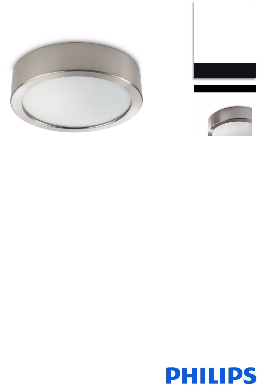 Philips myLiving  Deckenleuchte Leuchte Lampe Octagon matt verchromt