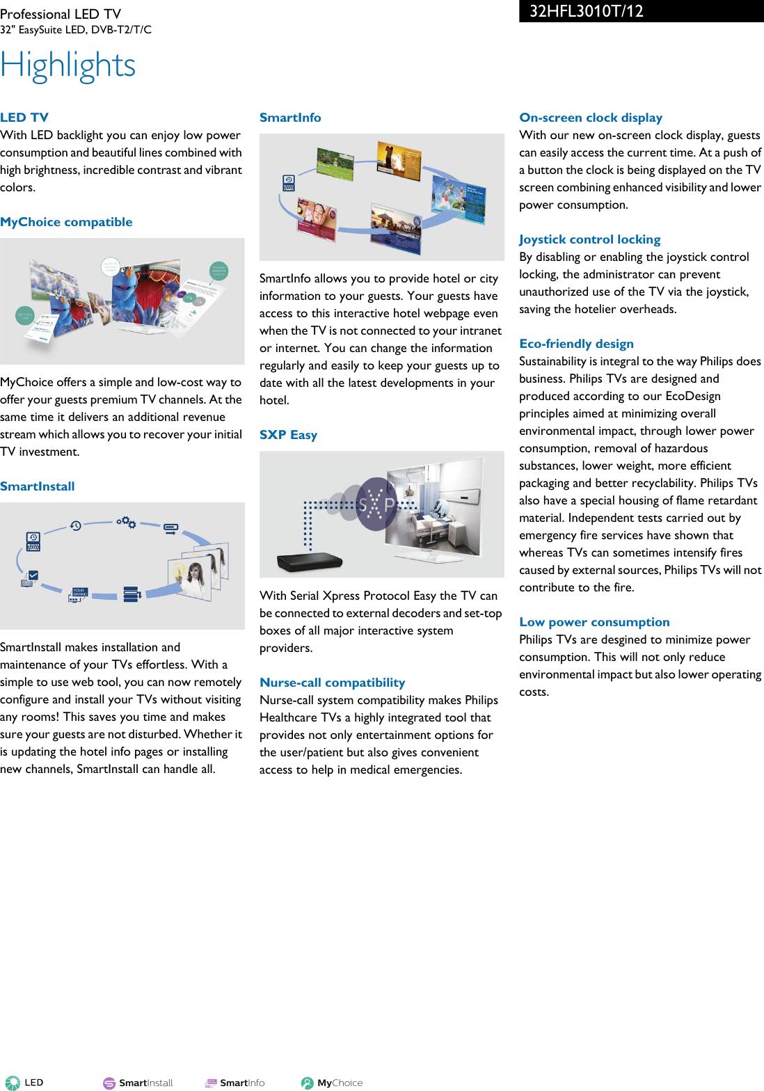 Philips 32HFL3010T/12 Professional LED TV User Manual