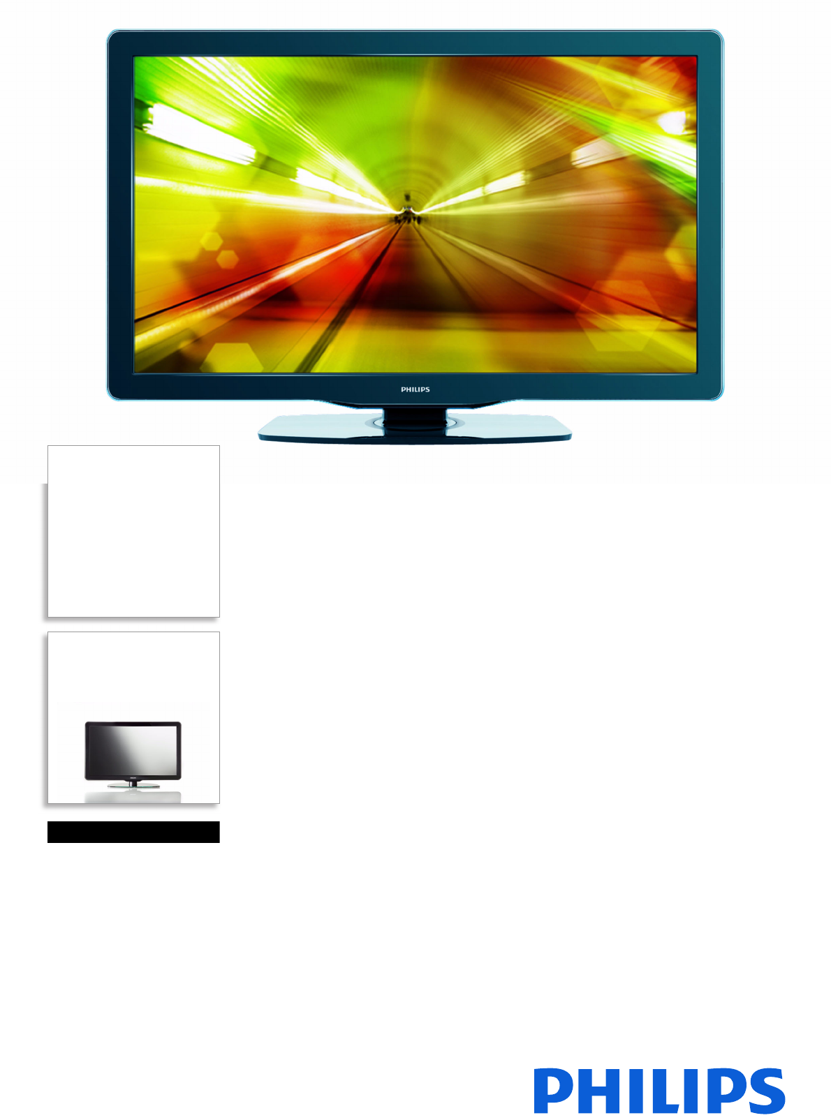 Philips 37HFL5682L/F7 Hospitality LCD TV User Manual Leaflet