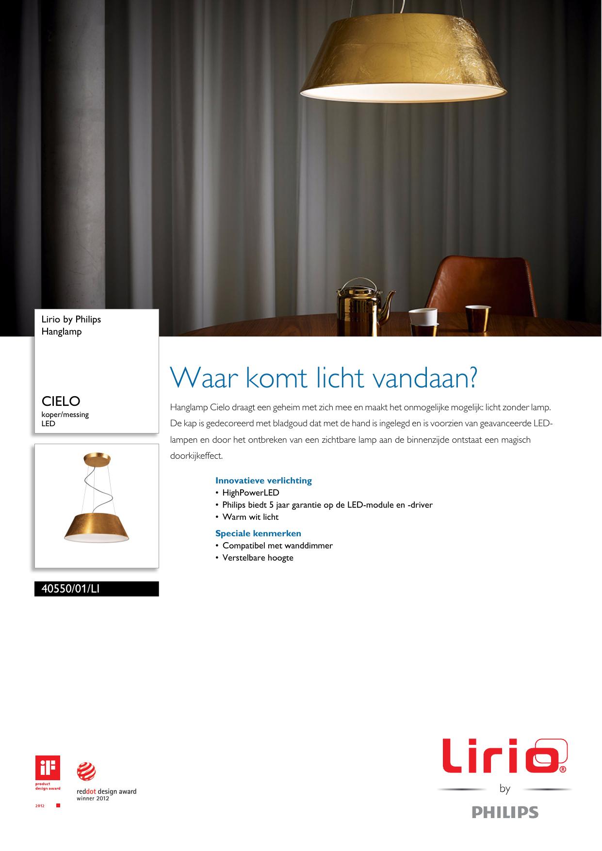 philips 4055001li lirio hanglamp pss nldnl