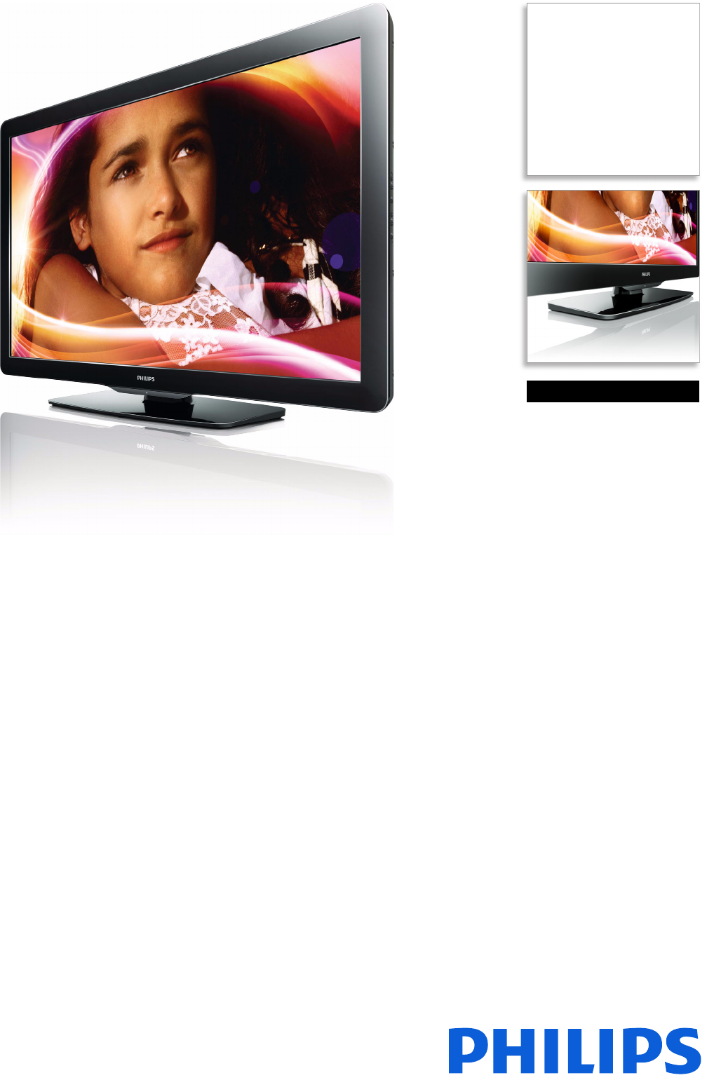 Philips 40HFL5783L/F7 Hospitality LCD TV User Manual Leaflet