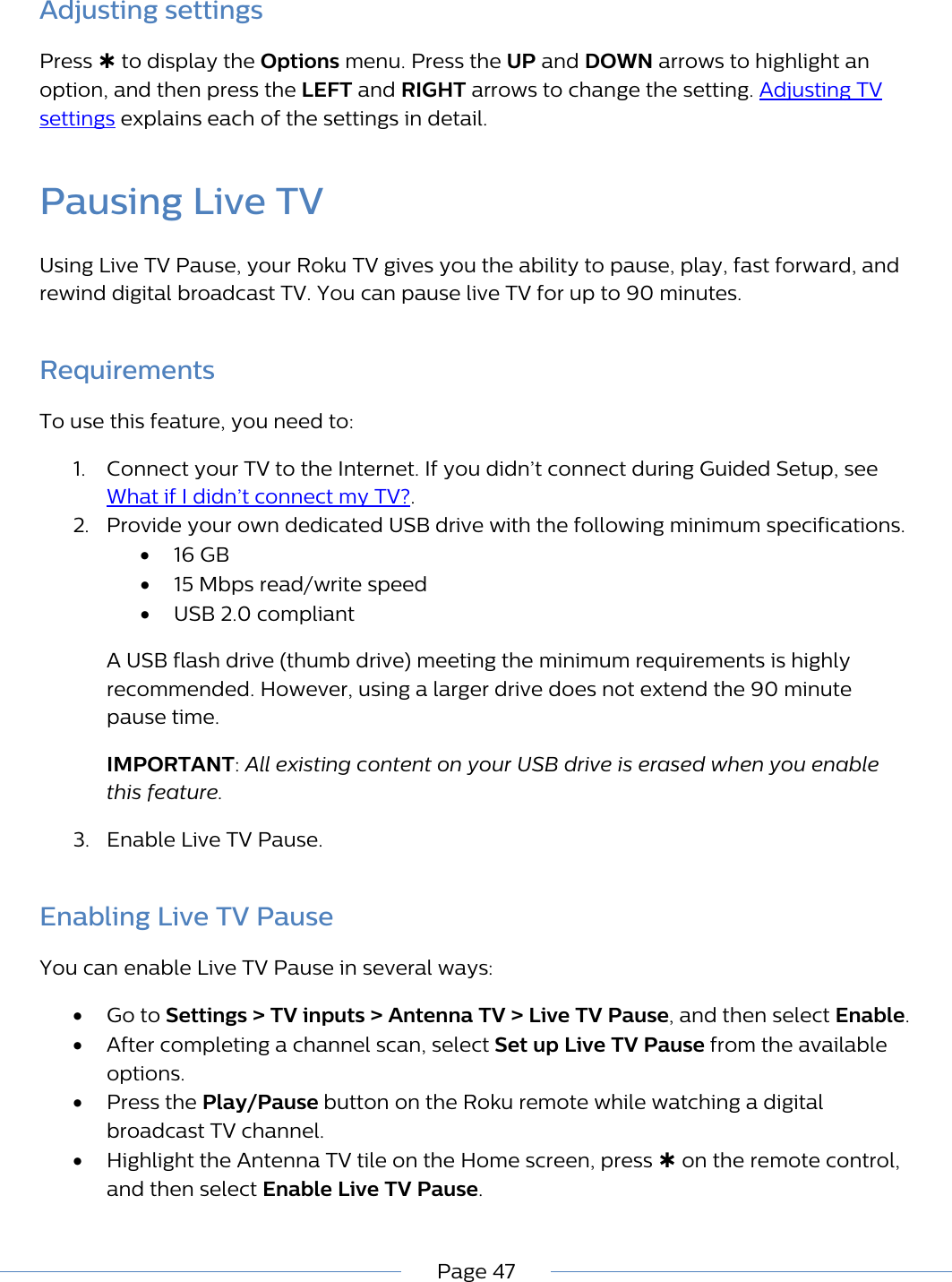Philips 40PFL4662/F7 Roku TV User Guide Manual 40pfl4662 F7 Dfu Aen