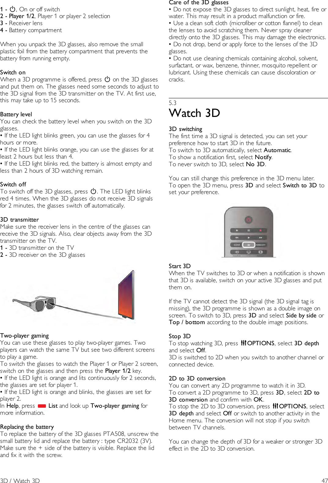 Philips 40PFL8007K/12 40_46_55PFL8007K User Manual
