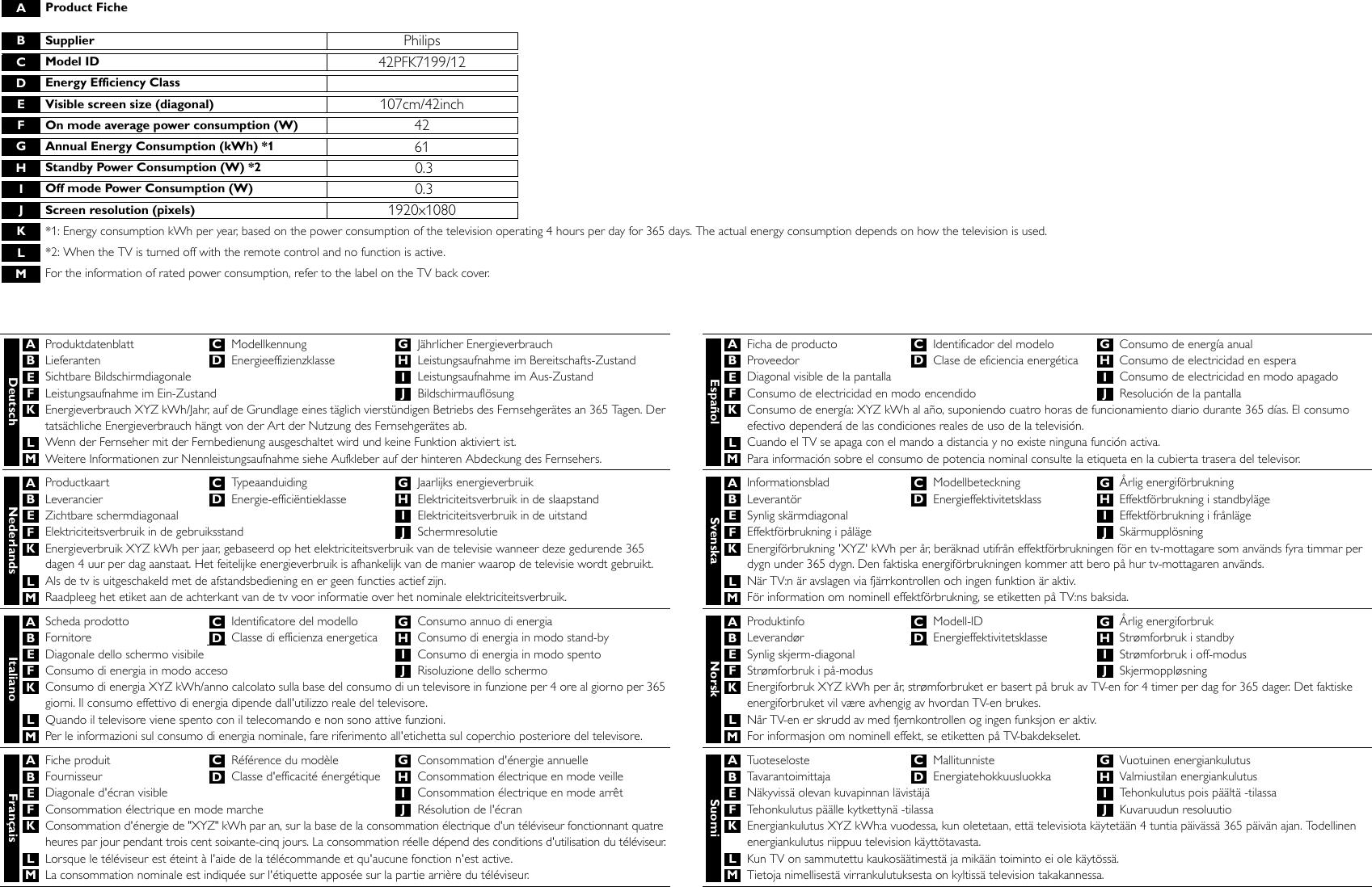 philips 42pfk7199 12 leaflet 42pfk7199 12 released global english rh usermanual wiki User Manual PDF Operators Manual