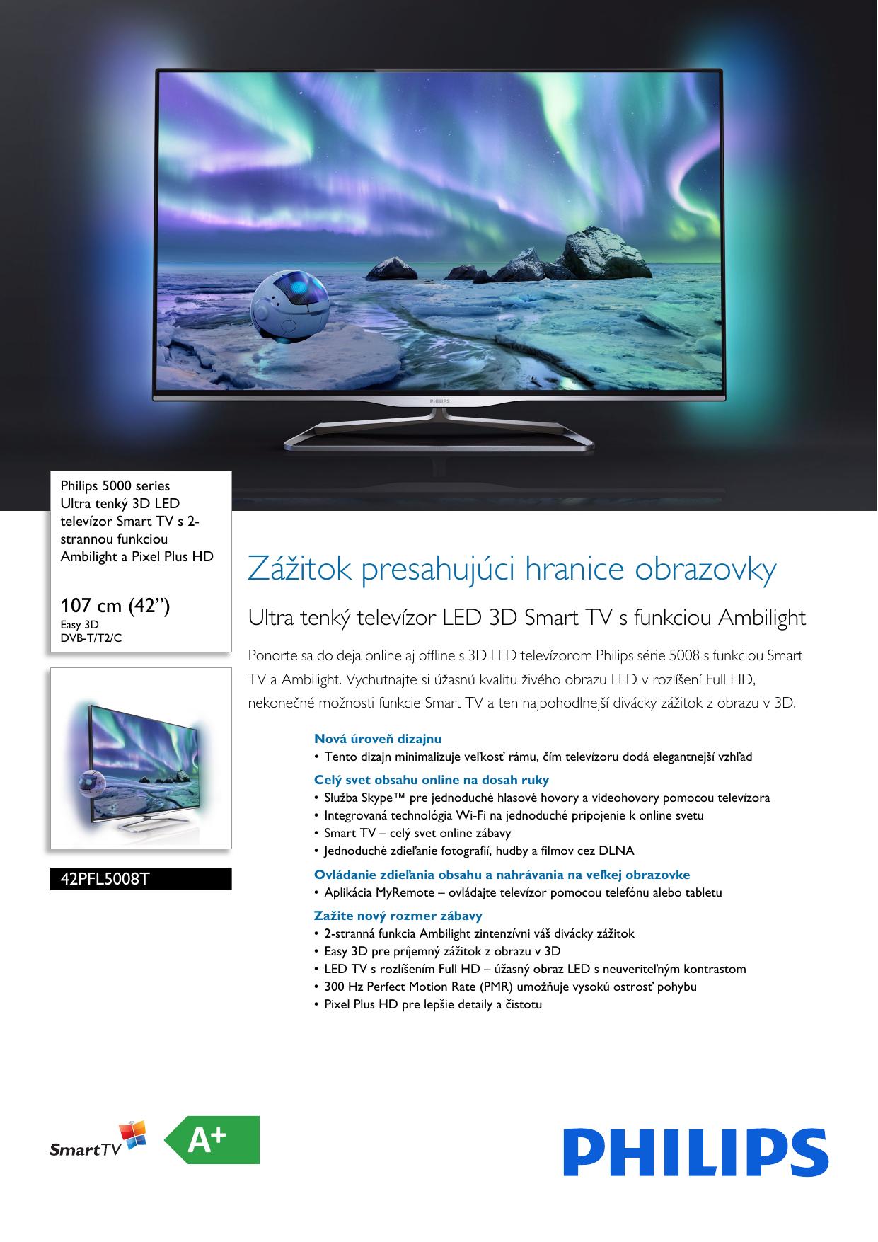 0126d9e1d Philips 42PFL5008T/12 Leaflet 42PFL5008T_12 Released Slovakia (Slovak) User  Manual Prospekt 42pfl5008t 12 Pss Slksk
