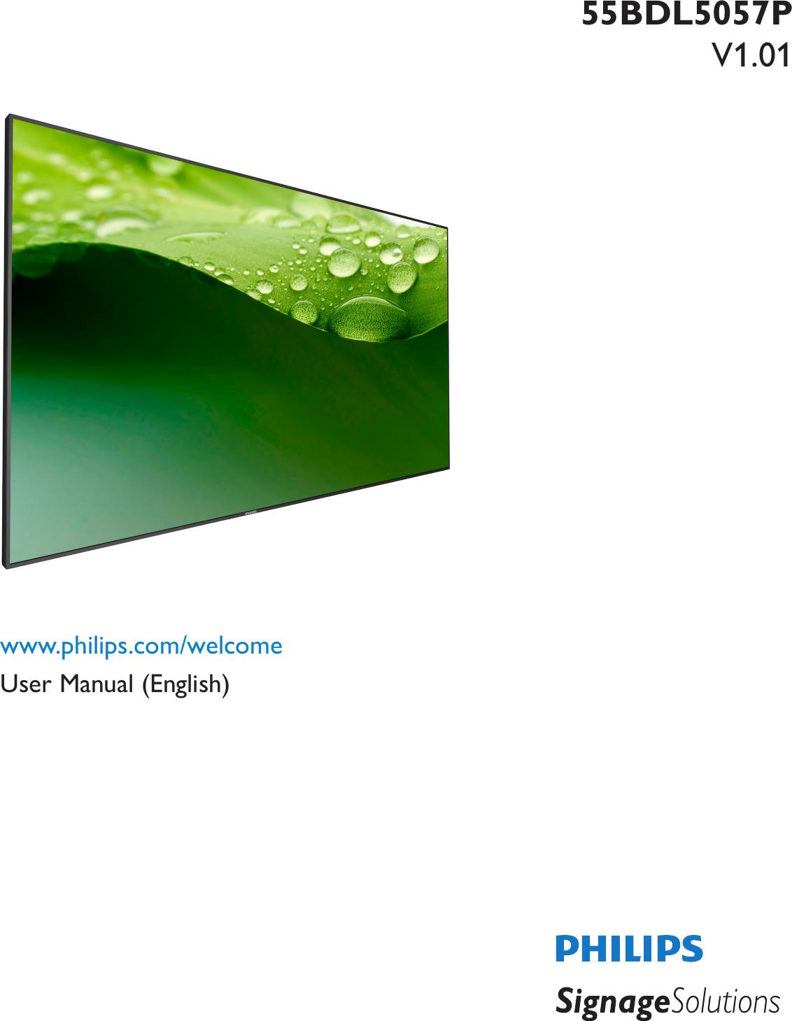 Philips 55bdl5057p00 User Manual מדריך למשתמש 55bdl5057p 00