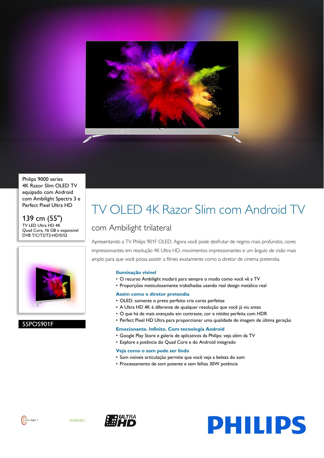 Page 1 of 3 - Philips 55POS901F 12 4K Razor Slim OLED TV Equipado Com 12fccd3096c4