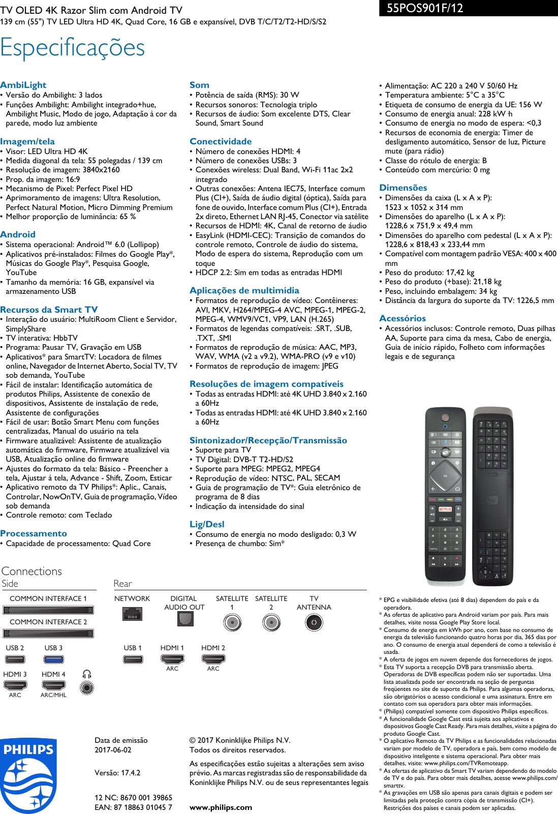 Page 3 of 3 - Philips 55POS901F 12 4K Razor Slim OLED TV Equipado Com ca79402338b8
