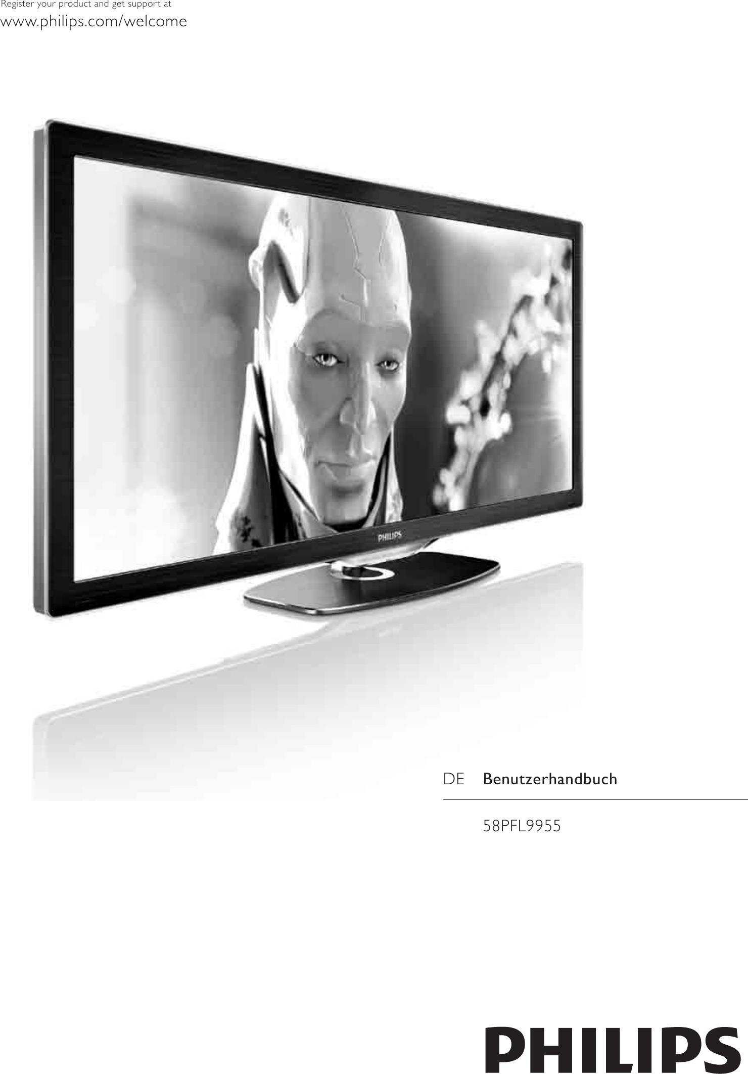 Philips 58PFL9955H/12 310432700363 User Manual 58pfl9955h 12 Dfu Deu