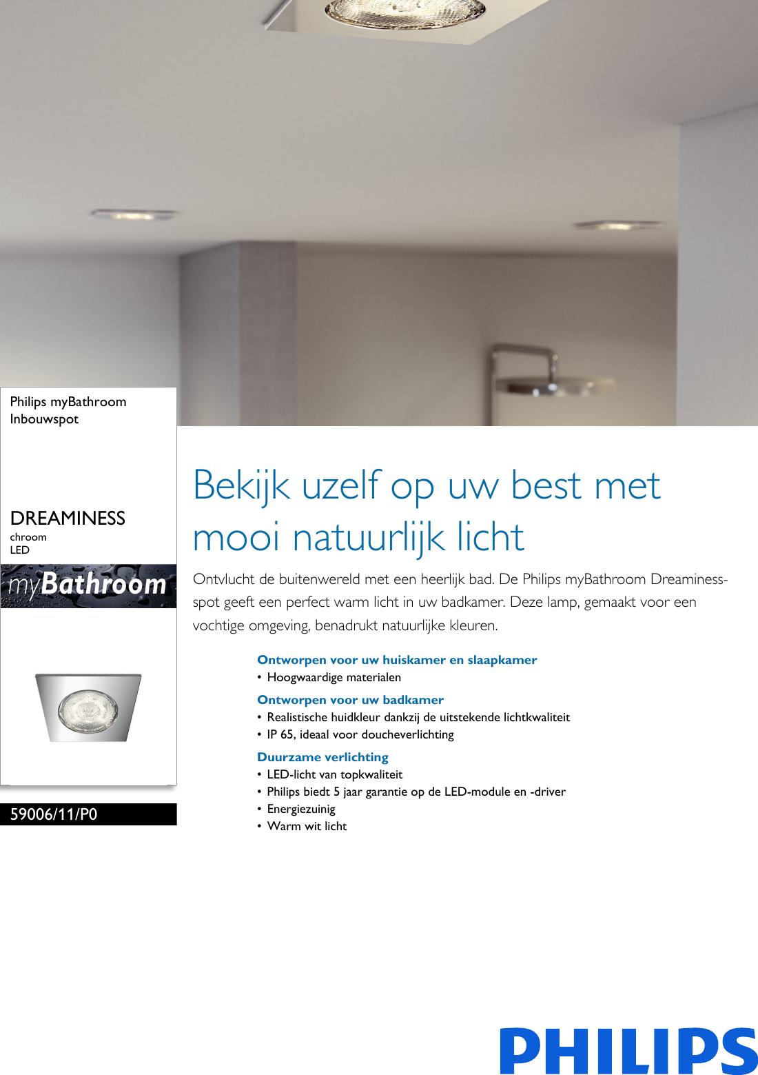 philips 59006 11 p0 5900611p0 inbouwspot user manual. Black Bedroom Furniture Sets. Home Design Ideas