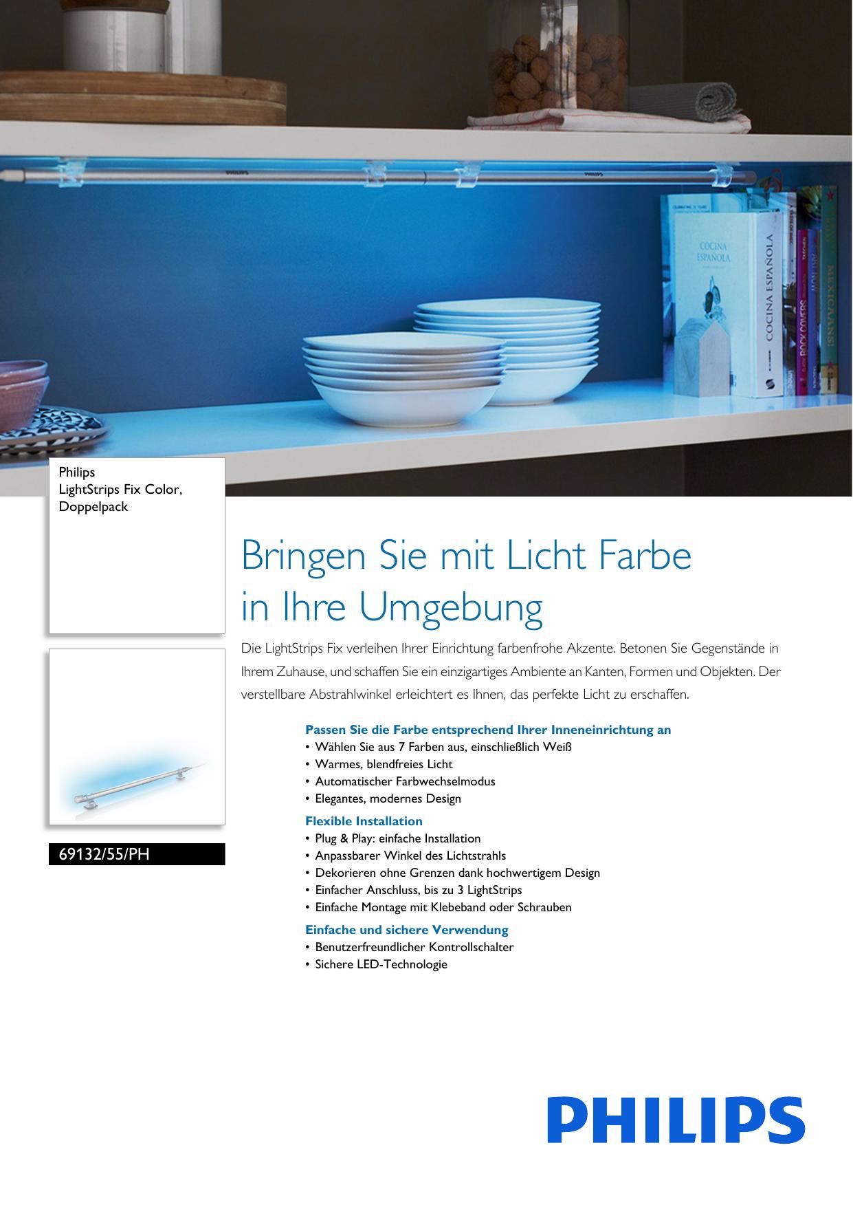 Philips 69132/55/PH Leaflet 6913255PH Released Switzerland (German ...