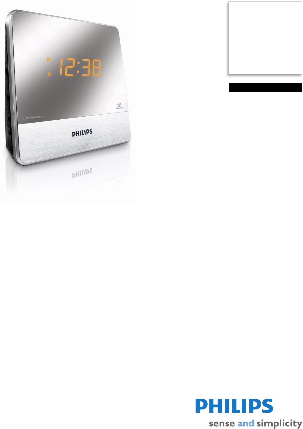 philips aj3231 37 clock radio user manual leaflet aj3231 37 pss aenca rh usermanual wiki NFC Philips Clock Radio Manual philips aj3231 alarm clock radio manual