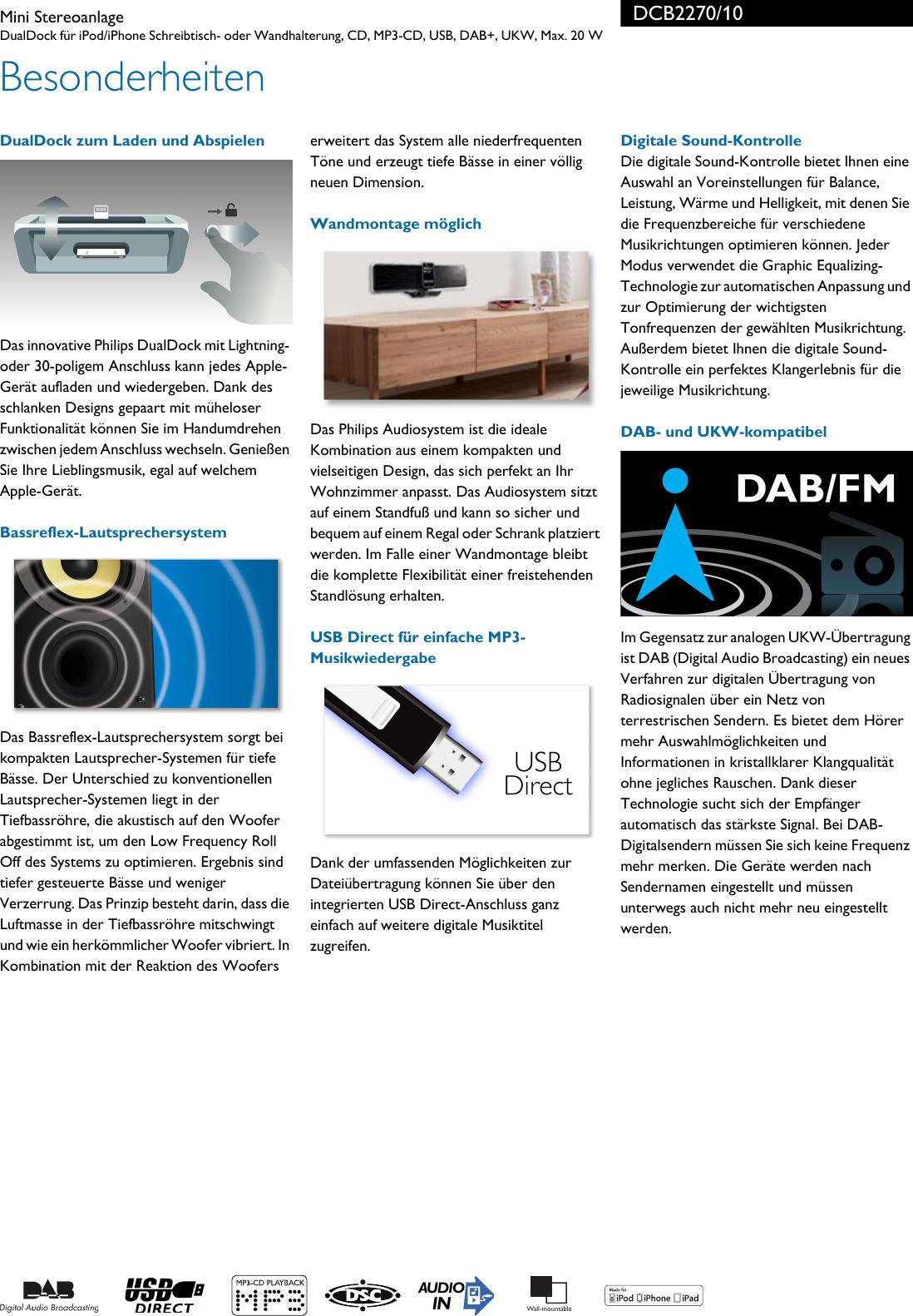 Philips Dcb2270 10 Leaflet Dcb2270 10 Released Austria German