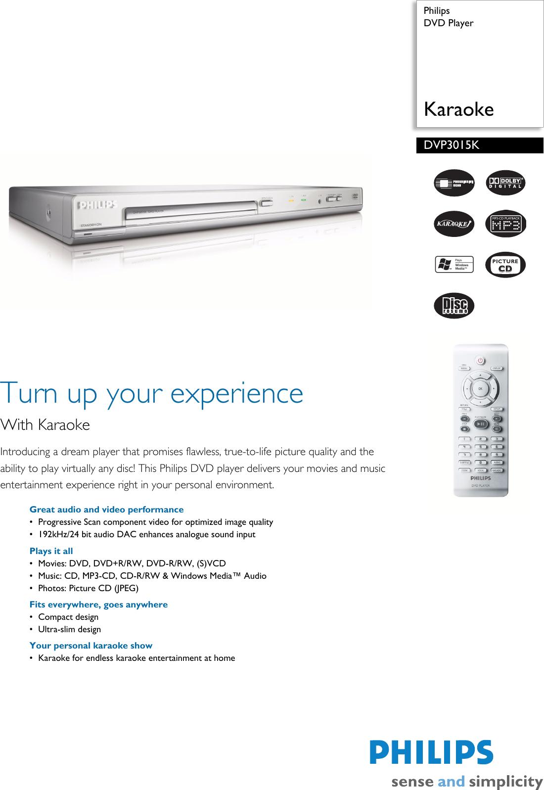 Philips DVP 3015K DVP3015K/98 DVD Player User Manual To The E1580ba9 082a  e584 a5c5 fd54bbfc048e