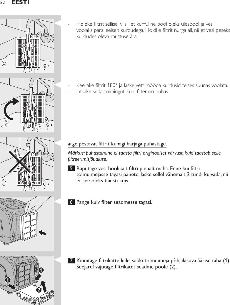 795b661adab Philips FC9306/01 A5 User Manual Brugervejledning Fc9306 01 Dfu Est