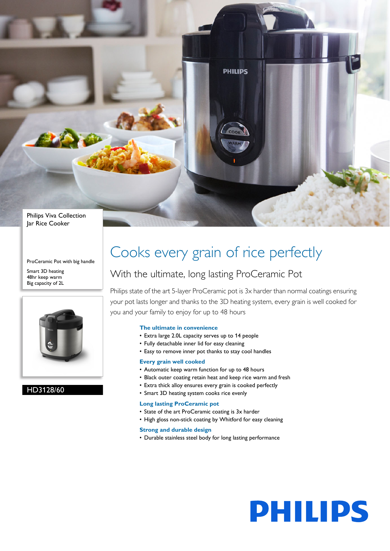 Philips Daily Collection Jar Rice Cooker Hd312732 Merah Daftar 2l Basic Green Hd3118 30 Free Sunlight Hd3128 60 User Manual Leaflet Pss Engmy